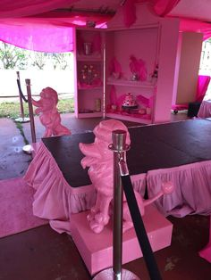Vintage Barbie runway birthday party! See more party ideas at CatchMyParty.com!