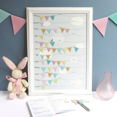 This is an ace idea, i like the fact it isn't linked to any one year - birthday reminder calendar by sarah kate | notonthehighstreet.com