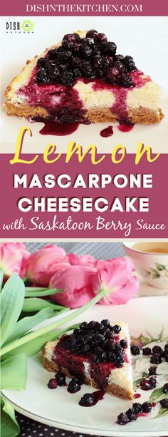 Low Carb Recipes To The Prism Weight Reduction Program The Ultimate Creamy Cheesecake, Made With Mascarpone And Brightened Up With Sunny Meyer Lemons. Remember The Saskatoon Sauce Great Desserts, Best Dessert Recipes, Sweet Recipes, Delicious Desserts, Lemon Recipes, Amazing Recipes, Yummy Recipes, Basic Cheesecake, Easy Cheesecake Recipes