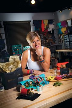 Jill Donovan designs Rustic Cuff products, which are handmade in her Tulsa showroom.