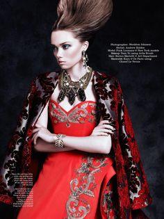 Dark Reign with model Puck Loomans (Elle Vietnam)