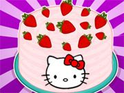 Strawberry Cake #HelloKitty #Strawberry #CandyGame