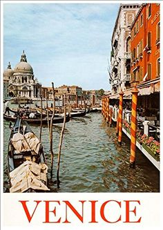 'Venice - Italy' - A4 Glossy Art Print Taken From A Rare Vintage Travel Poster by Vintage Travel Posters http://www.amazon.co.uk/dp/B01BK59DZG/ref=cm_sw_r_pi_dp_6MaUwb1XTQ8KW