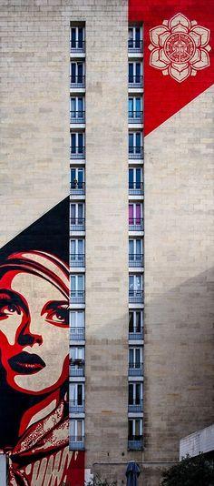 Street Art by Shepard Fairey @ Paris