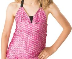 Dazzle your friends in this refreshing splash of pink. Tankini Top to match your mermaid tail. Our Fin Fun Mermaid Tankini Top is absolutely beautiful Fin Fun Mermaid Tails, Tankini Top, Swimsuits, Bikinis, Swimsuit Tops, Pink, Beautiful, Dresses, Gifts