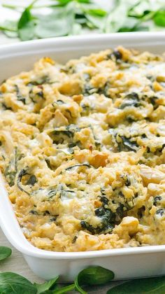 Clean Eating Spinach and Artichoke Quinoa Casserole - Quick, filling and flavourful GF casserole