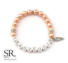 Accessoires - Armband Trauzeugin edel Geschenk Hochzeit apricot orange intesiv Flügel Engeslflügel - ein Designerstück von sweetrosy bei DaWanda