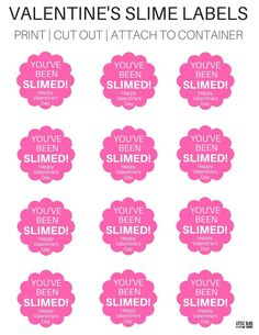 Valentines Day Slime Labels Free Printable