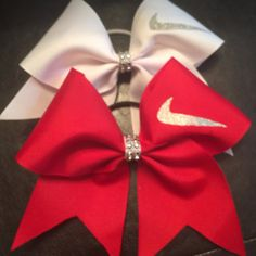 Nike Swoop Cheer bows Many colors available by CreativelyGlamorous Cute Cheer Bows, Cheer Mom, Big Bows, Cheer Practice, Cheerleading Bows, Cheer Hair, Cheer Outfits, Hair Supplies, Cheer Dance