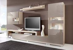 Wohnwand (5-tlg.), mit Standvitrine im Online Shop von Baur Versand