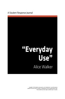 A literary analysis of everyday use by alice walker