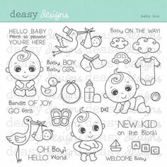 coloring pages - Digital Stamp Art Baby Boo Desenho Kids, Doodle Baby, Baby Journal, Digital Stamps, Digital Art, Baby Design, Colouring Pages, Baby Cards, Clear Stamps