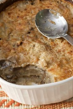 Big Flavors From A Tiny Kitchen: Potato and Shiitake Mushroom Gratin (originally from Bon Appetit - our favorite artery-clogging gratin recipe -- it makes a huge amount, so unless you're feeding a crowd, cut down the recipe)