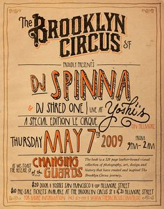 Brooklyn Circus Poster: Retro Western - Could be Hand-drawn? | Typophile