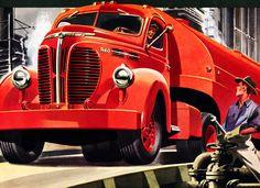 Plan59 :: Classic Truck Art :: 1947 Reo Heavy-Duty tractor