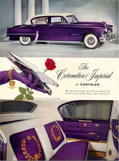 1953 Chrysler Coronation Imperial in Purple