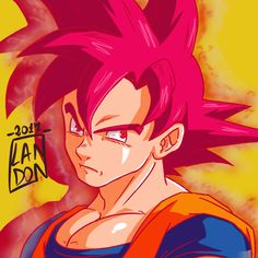 Goku Super Saiyan God from DragonBall Super