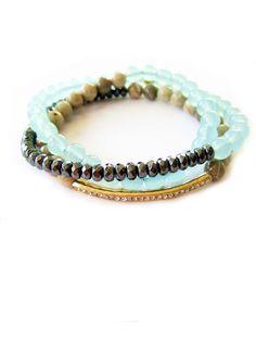 Stretch Triple Wrap Bracelet