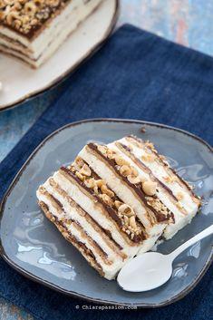Matonelladi biscotti Nutella e mascarpone Italian Desserts, Italian Recipes, Ricotta, Confort Food, Icebox Cake, Food Obsession, Bakery Recipes, Sweet Cakes, Ice Cream Recipes