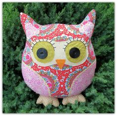 Moondance  a large owl cushion.  Owl pillow.  by TheSherbetPatch, £23.00