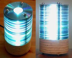 Finally a use for all those outdated, scratched up CDs! DIY: CD lamp