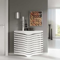 Contemporary Floating White Radiator Hater Cover CHEVRON design with Integrate shelf length, / Radiator Heater Covers, Radiator Shelf, Radiator Cover, Radiator Screen, Old Radiators, Column Radiators, Contemporary Design, Modern Design, Function Hall