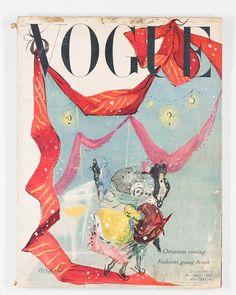 Vogue Magazine Dec 1947 Erwin Blumenfeld Horst Carl Eric Erickson Marcel Vertes   eBay