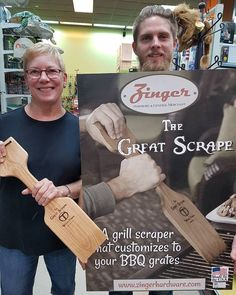 The Great Scrape that actually customize to perfectly fit to your grill grates to clean. Go to www.ZingerHardware.com and see before and after.