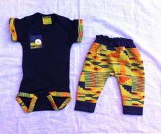 Jabari Kente Inspired Onesie outfit by J*Diza Clothing Co Baby African Clothes, African Dresses For Kids, African Babies, African Children, African Print Fashion, Africa Fashion, African Attire, African Wear, Baby Boy Fashion