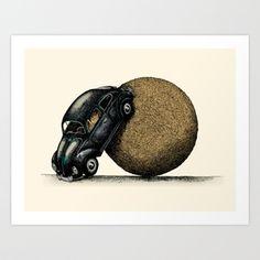 Volksdung Beetle Art Print by Alvaro Arteaga