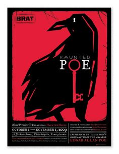 Haunted Poe  Poster for Haunted Poe, a festive play based on the works of Edgar Allan Poe.