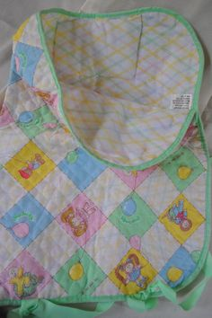 Vintage 1980s Cabbage Patch Kids Quilted Sleeping Bag for Doll. $6.50, via Etsy.