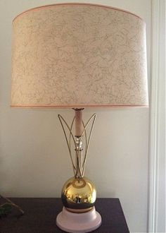 pink and gold mid century lamp by charliesnest on Etsy, $64.50