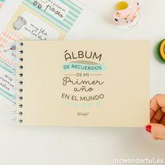 Regalo de mis 32!! Álbum para bebé - ¡Hola mundo! Mi primer añito