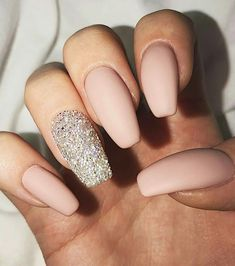 A manicure is a cosmetic elegance therapy for the finger nails and hands. A manicure could deal with just the hands, just the nails, or Blush Pink Nails, Nude Nails, Gel Nails, Coffin Nails, Matte Blush, Nail Polish, Nail Nail, Pale Pink, Matte Acrylic Nails