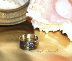 Azure Blue Lapis Gemstone - Set In Fine Silver With Textured Band - Available At Dimples and Dragonflies  https://www.etsy.com/listing/200143529/ring-lapis-lazuli-surrounded-by-sterling?ref=shop_home_active_4