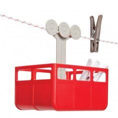 Wäscheklammer-Box Cabina rot