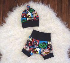 f0c8258fc6f MARVEL BABY SET marvel shorts superhero outfit by marysayssew