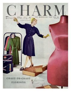 Charm Magazine cover, February 1946 by Jon Abbot