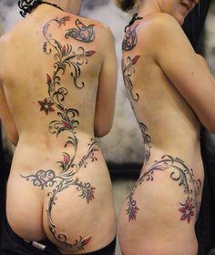 dragon in vines tattoo - Google Search