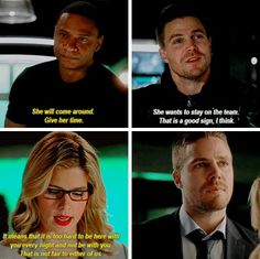 I don't want to let go. // The beginning + The end of #4x16 #Olicity #Arrow