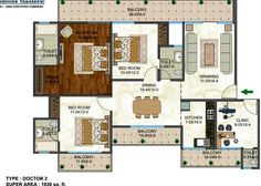 Antriksh Forest floor plan