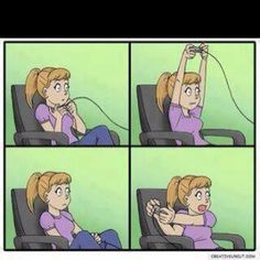 """""""This is how girls play video games!! (: repin if you agree . <3"""" - original text"""