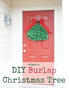 Love the homespun rustic burlap look? Then try this easy DIY Burlap Christmas Tree to add to your holiday decor! It's easy and takes just an hour. Burlap Christmas Tree, Christmas Swags, Christmas Crafts, Christmas Decorations, Christmas Ornaments, Christmas Ideas, Rustic Christmas, Christmas Activities, Christmas Wrapping