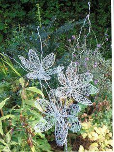 Spring spray made from chicken wire. Carol Sterritt Wirework Garden Sculpture