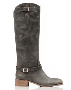 Rowdy distressed leather boot #Italian #boot #distressed #equestrian #charlesdavid #madeinitaly