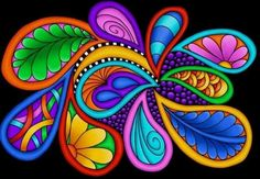 More Fuel Digital Art by Debi Payne - drawings Whimsical Painted Furniture, Colorful Furniture, Painted Rocks, Hand Painted, Wal Art, Paisley Art, Art Africain, Mandala Art, Rock Art