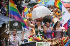Chester, full of rainbow color, as hundreds of people enjoy the annual festival of pride