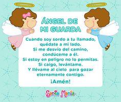 Estampa Angel De La Guarda Adultos Oraciones Pinterest
