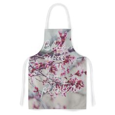 Kess InHouse Suzanne Carter Bloom Pink Artistic Apron